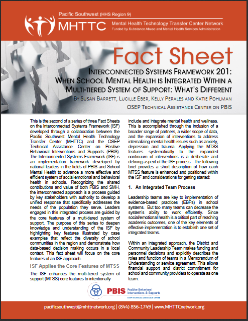 Cover of ISF 201 Fact Sheet