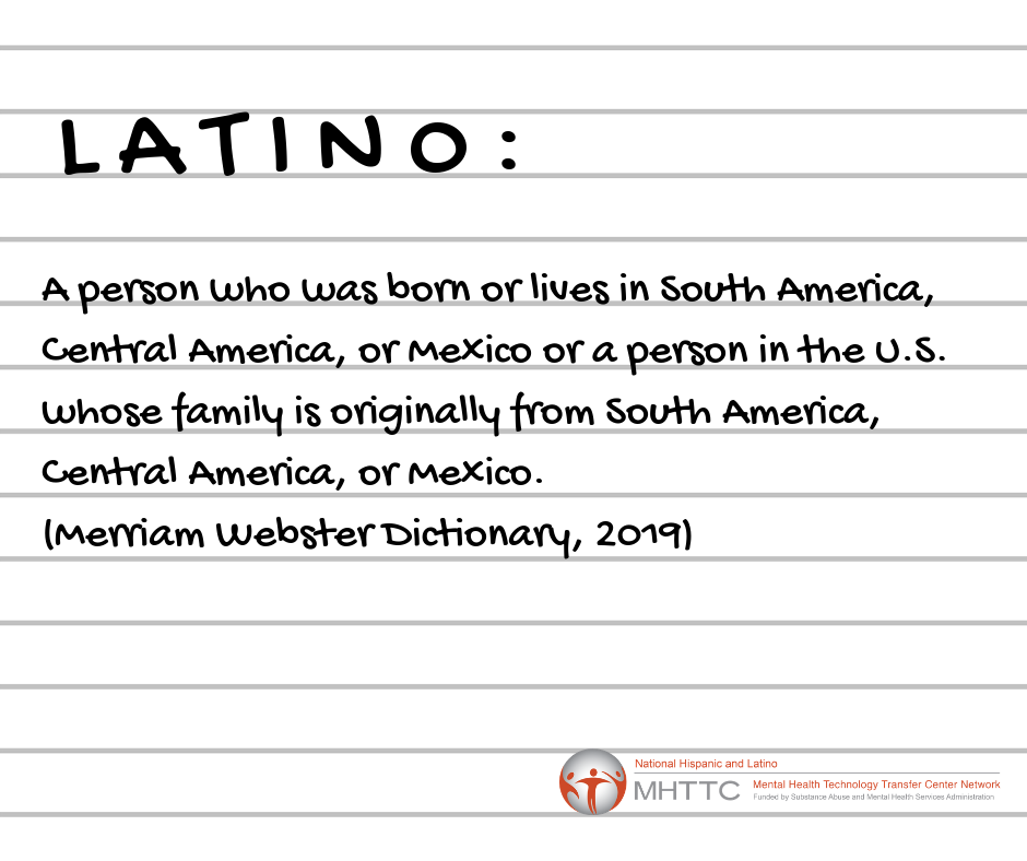Definition of Latino