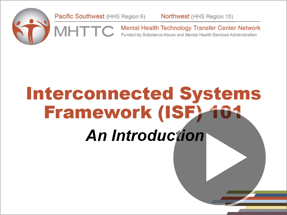 Title slide for Interconnected Systems Framework (ISF) 101 - An Introduction webinar