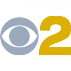 Silver and Gold CBS 2 Logo