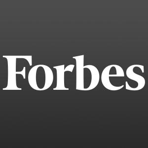 Black and white Forbes logo