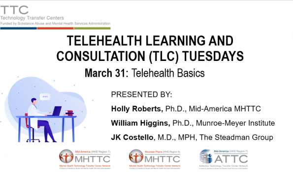 TLC Tuesdays Telehealth Basics Title Slide