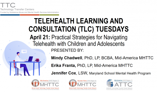 TLC Tuesdays Children and Adolescents Title Slide