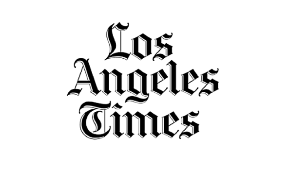 Black and white Los Angeles Times logo
