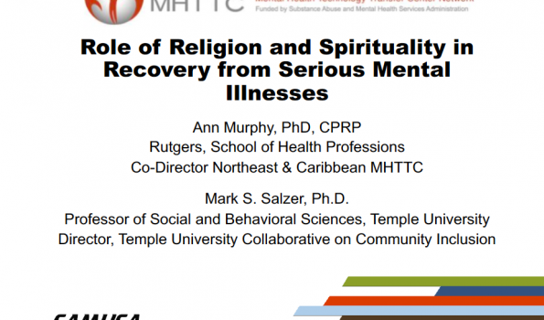 Role of Religion and Spirituality in Recovery Title Slide