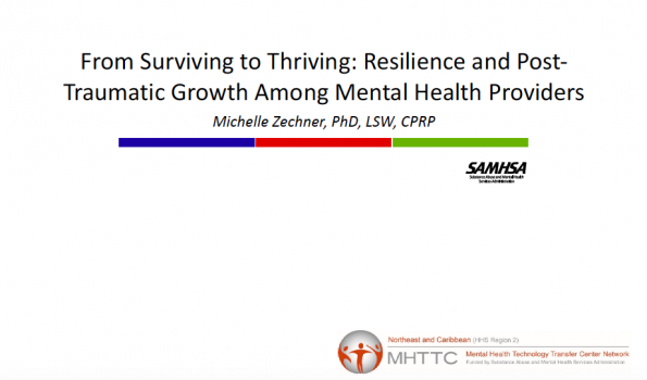 Resilience and Post-Traumatic Growth Among Mental Health Providers