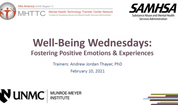 Well-Being Wednesdays February Title Slide
